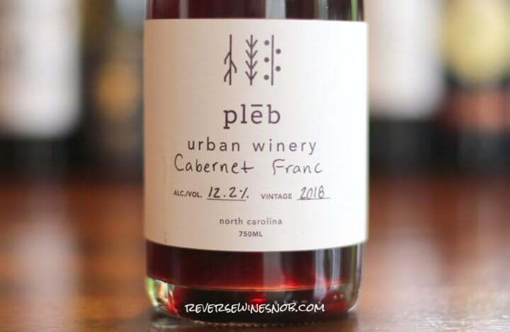 Pleb Urban Winery Cabernet Franc - Refreshingly Delicious