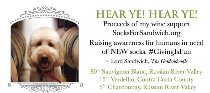 Lord Sandwich Back Label - Socks For Sandwich