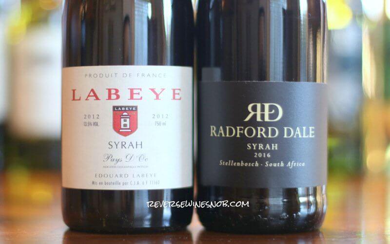 Labeye versus Radford Dale Syrah - Old World vs New World