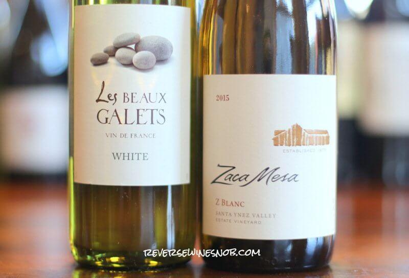 Les Beaux Galets vs Zaca Mesa Z Blanc - Old World vs New World