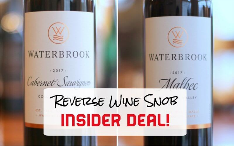 Insider Deal! Washington Wine from Waterbrook for the Win