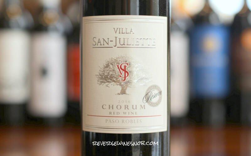 Villa San-Juliette Chorum Red Reserve – A Melodious Mix