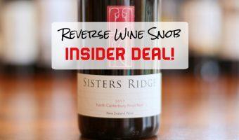 A Quite Quaffable Insider Deal! Sisters Ridge Pinot Noir