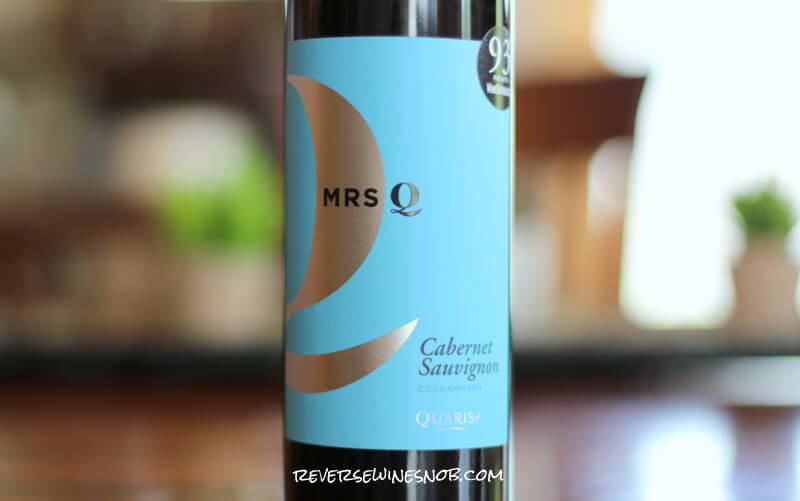 Quarisa Mrs. Q Cabernet Sauvignon - A Good Buy