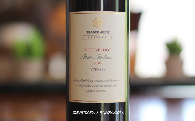 Trader Joe's Reserve Petit Verdot Lot 154 - A Lot To Love