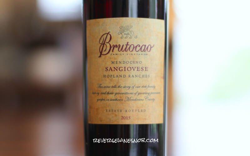 INSIDER DEAL! Brutocao Cellars Sangiovese – Stunning!