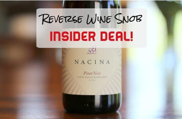 65% Off INSIDER DEAL! Nacina Santa Lucia Highlands Pinot Noir from Tudor Wines