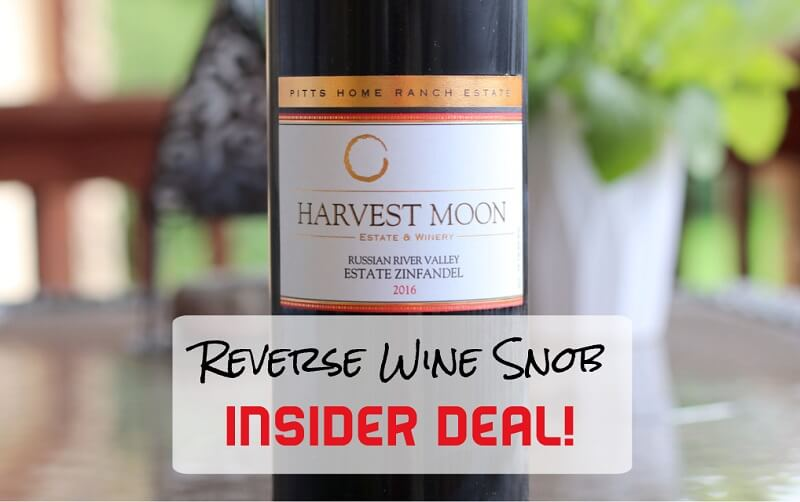 INSIDER DEAL! Harvest Moon Pitts Home Ranch Estate Zinfandel - Luscious