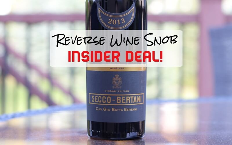 INSIDER DEAL! Italian Elegance almost 50% off! The Secco-Bertani Vintage Edition
