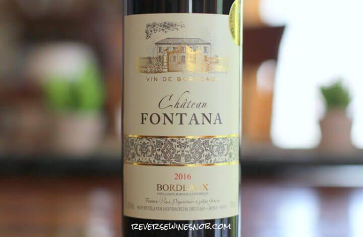 Chateau Fontana Rouge – Budget Bordeaux