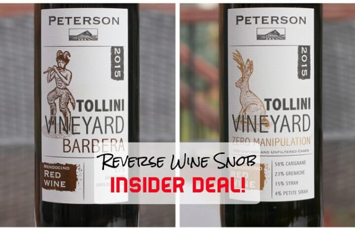 INSIDER DEAL! Peterson Winery Tollini Vineyard Reds - Honestly Delicious