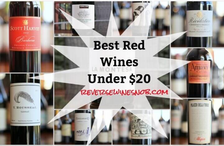 2020 Best Red Wines Under $20