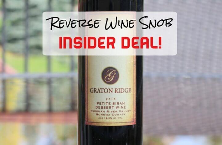 INSIDER DEAL! Graton Ridge Petite Sirah Dessert Wine - Luscious