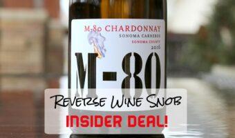 BOOM goes the INSIDER DEAL! Vinum Cellars M-80 Chardonnay