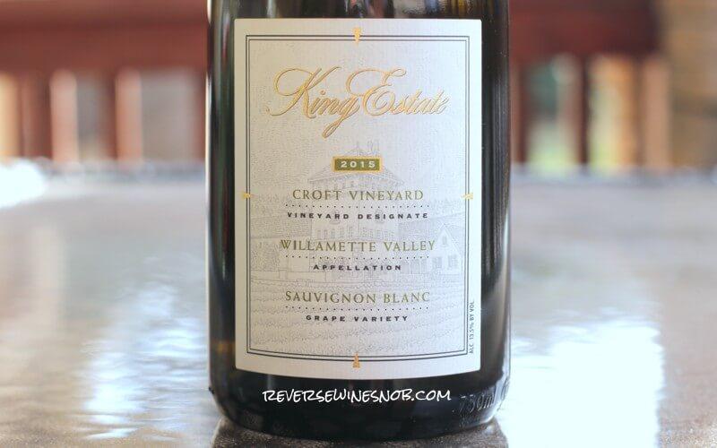 2015 King Estate Croft Vineyard Sauvignon Blanc