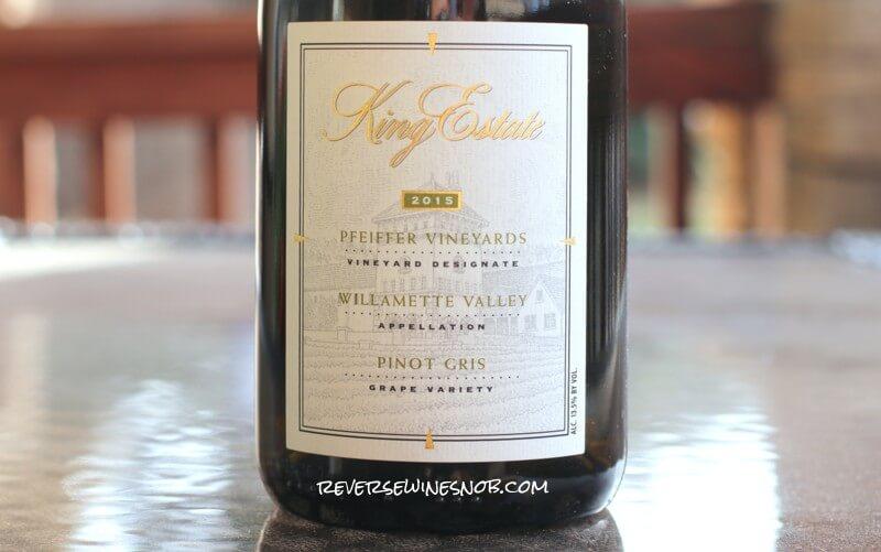 2015 King Estate Pfeiffer Vineyard Pinot Gris