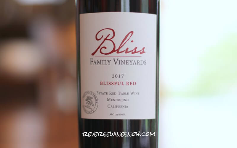 Bliss Family Vineyards Blissful Red from Brutocao Cellars