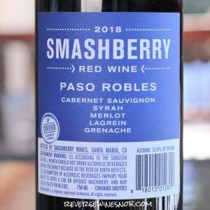 A Bulk Buy INSIDER DEAL! Smashberry Paso Robles Red Blend Back Label