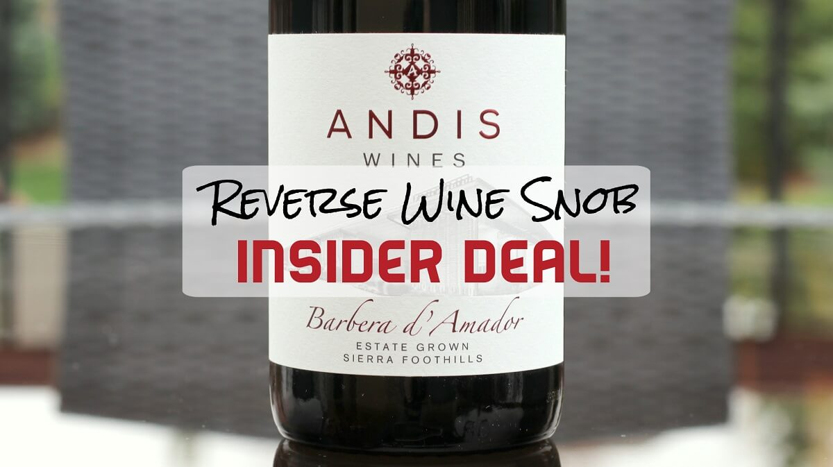 INSIDER DEAL! Andis Wines Barbera d'Amador - Deliciously Delicous
