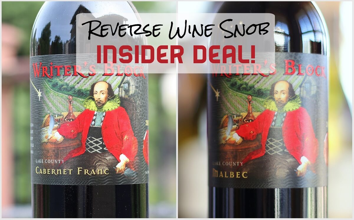 A Double Bulk Buy INSIDER DEAL! Writer's Block Malbec and Cabernet Franc