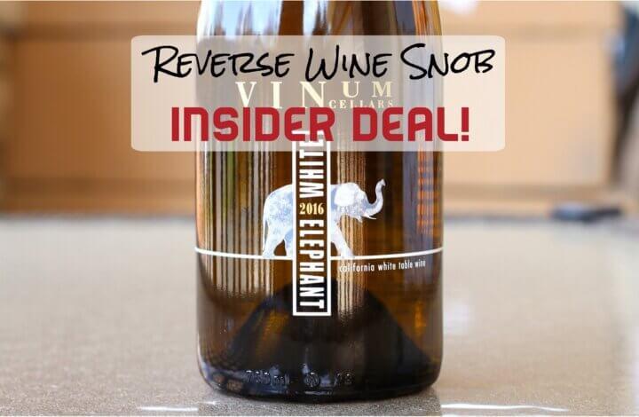 INSIDER DEAL! Vinum Cellars White Elephant - A Bulk Buy White Blend
