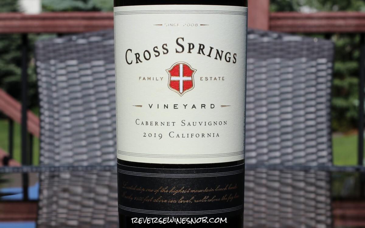 2019 Cross Springs Vineyard Cabernet Sauvignon