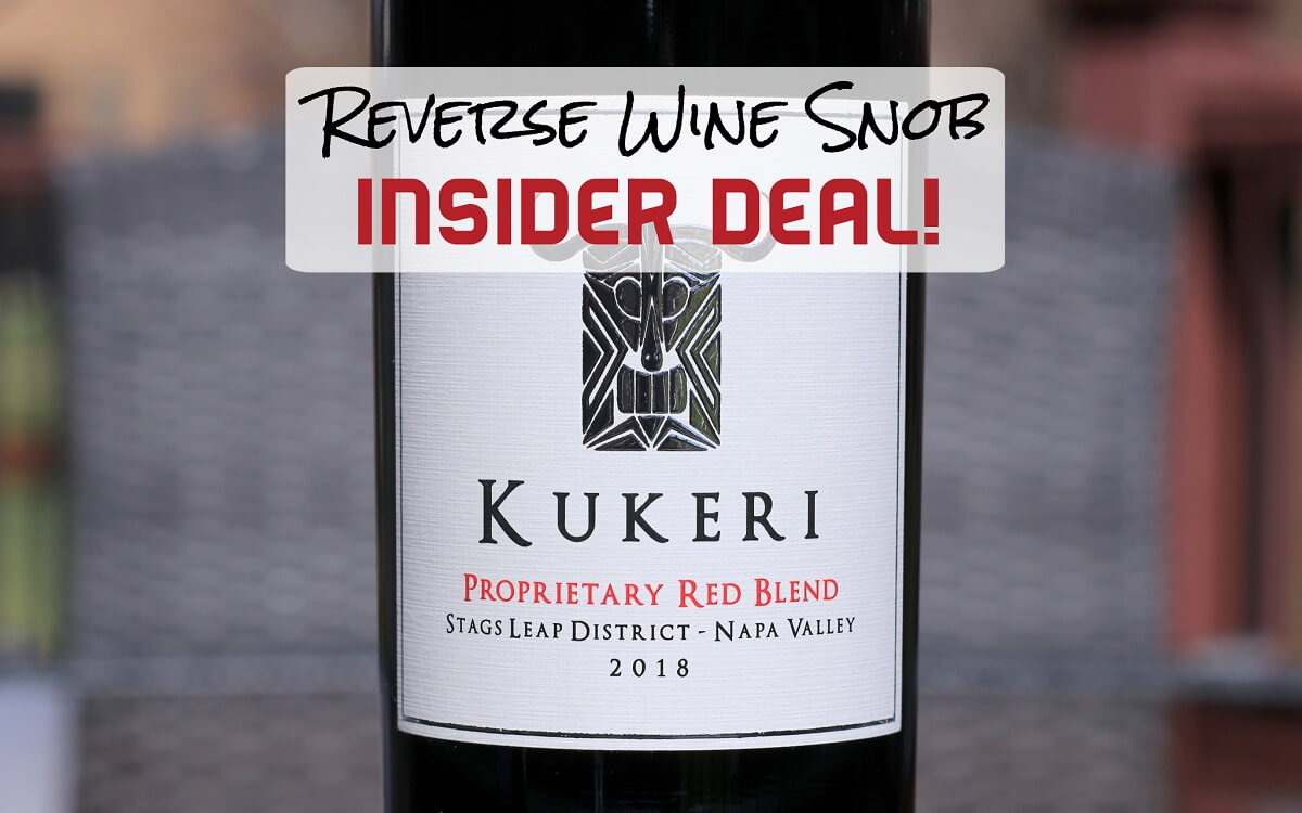 INSIDER DEAL! Save $30 a bottle on this Kukeri Stags Leap Red