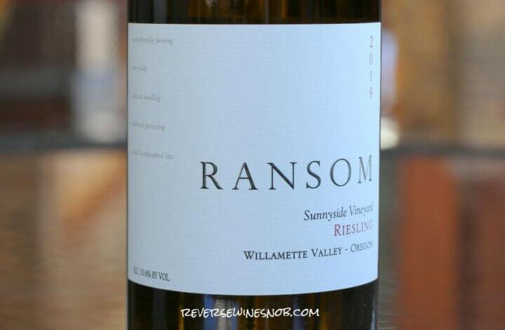 Ransom Sunnyside Vineyard Riesling - Radiant