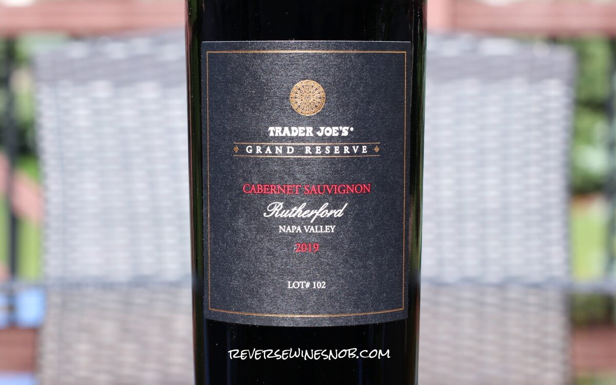 Trader Joe's Grand Reserve Rutherford Cabernet Sauvignon Review