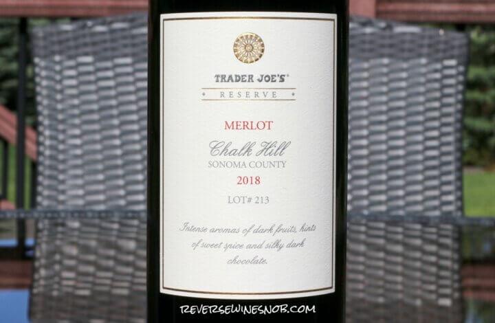 Trader Joe's Reserve Chalk Hill Merlot - The Quintessential Burger Wine?