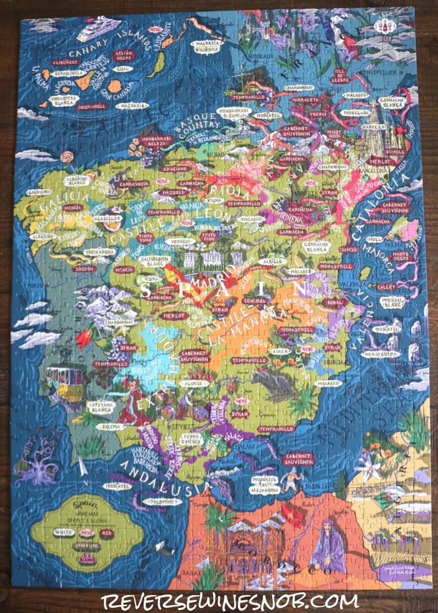 Water & Wines Spain Puzzle Completed