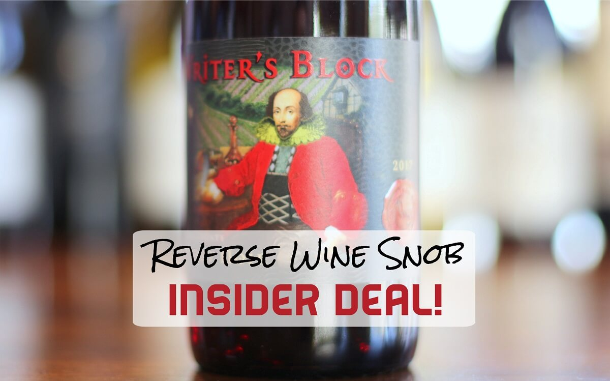 INSIDER DEAL! Writer's Block Pinot Noir - Super Satisfying
