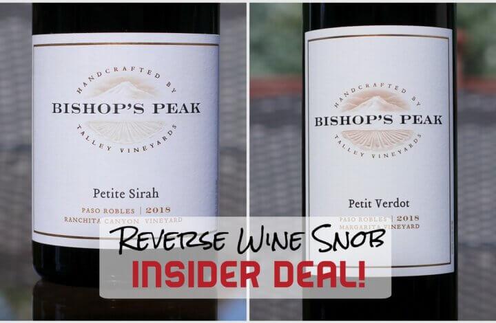 INSIDER DEAL! Bishop's Peak Petite Sirah and Petit Verdot - Perfect 10s