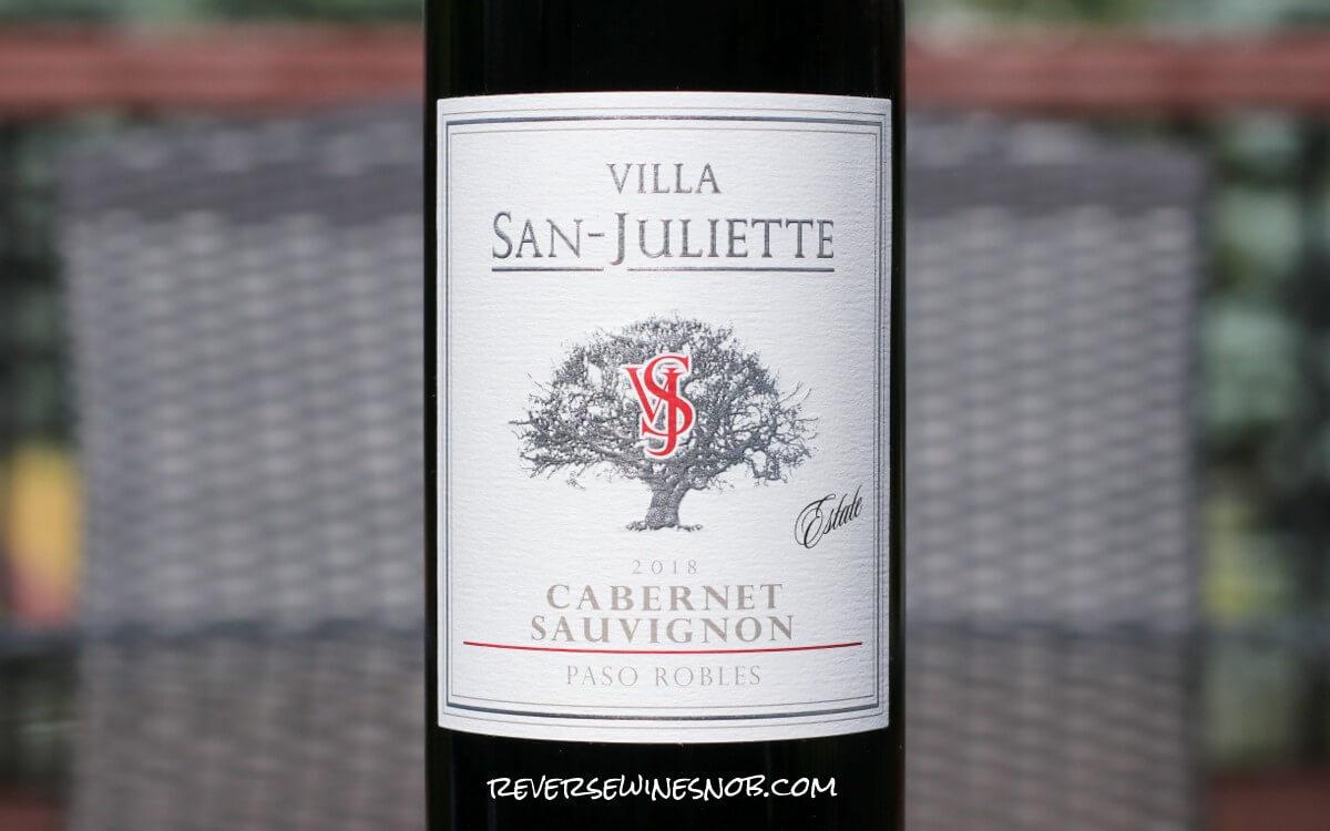 The 2018 Villa San-Juliette Cabernet Sauvignon